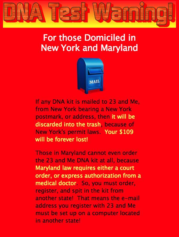 DNA Test Warning